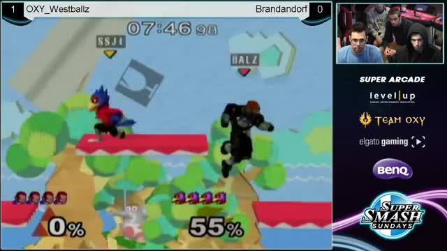 [Falco] Westballz' Wall Jump Dair and Wall Jump Recovery Combo
