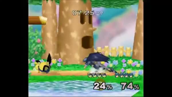 Pichu's guaranteed tech chase on reaction [GIF]
