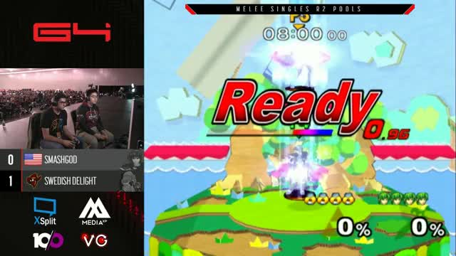 The stream went down during SmashG0d vs Swedish Delight. You probably want to go watch the VOD.