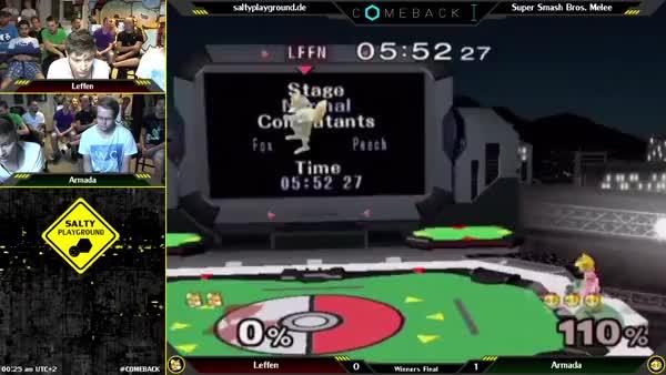 Armada punishes Leffen's missed up smash (0-death)