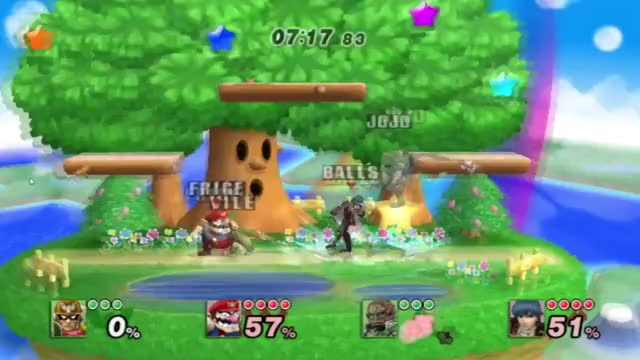 Falcon's great at doubles edge guarding