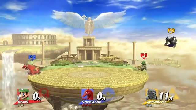 The Mario vs. Ganondorf Matchup in a GIF