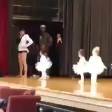 Dad learns his daughters dance routine so he could help her if she forgot.