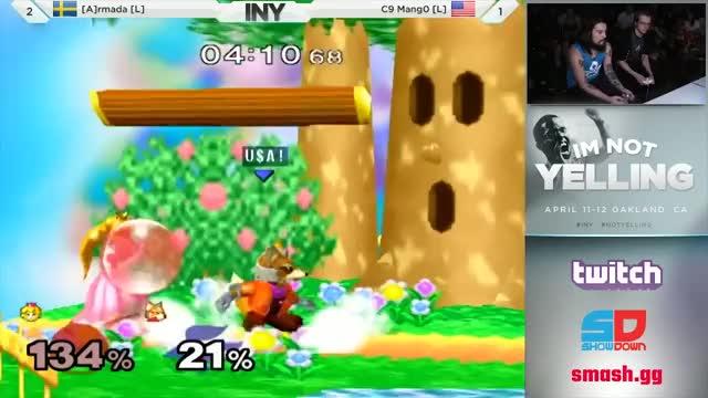 Armada's winning punish on Mang0 at INY