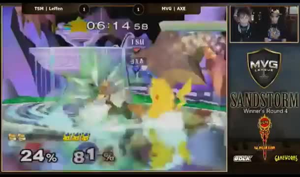 [Pikachu] Axe punishes Leffen's late wavedash