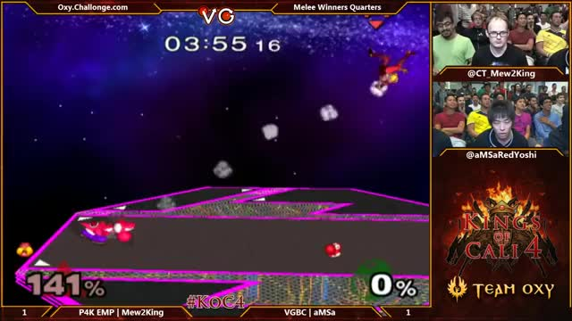Mew2king transforms to Zelda in order to recover against aMSa on Final Destination