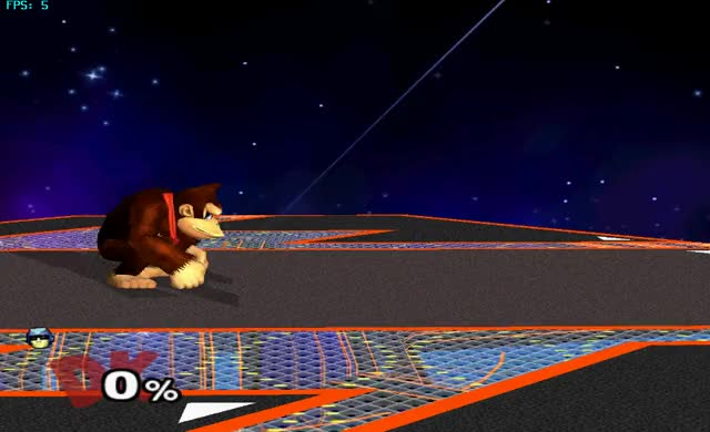 DK's chaingrab on Fox (and Falco and Falcon)