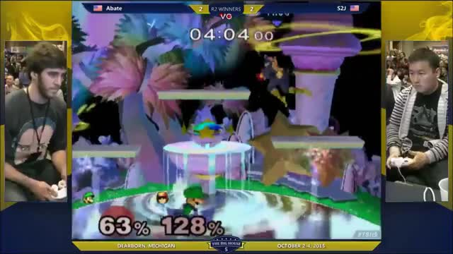 [Falcon] S2J does a knee into dair for the … [Luigi] Nevermind