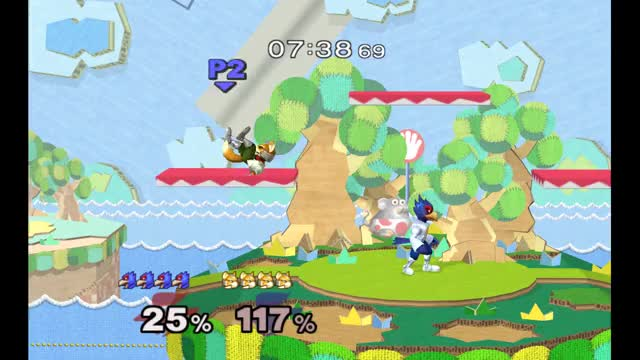 Can someone explain this? Weird Yoshi's Story wall physics shenanigans. [GFY]