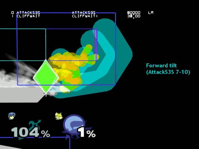 Marth: grounded attack range comparison