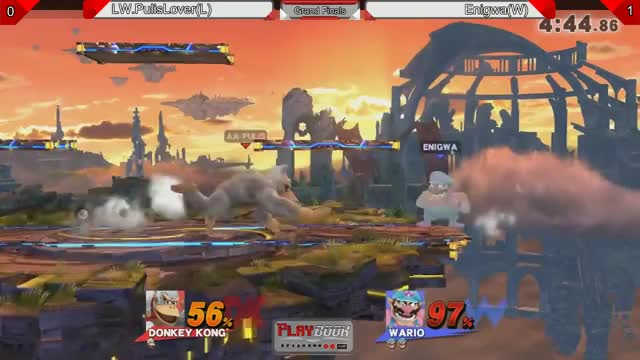 "This ""semi-suicide"" Wario chomp to K.O Stage Spike is scary."