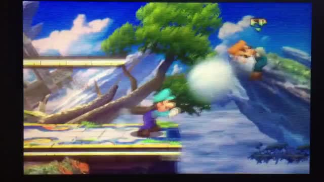 I was training my Amiibo when we unexpectedly performed a Luigi Ladder [x-post r/Smashbros]