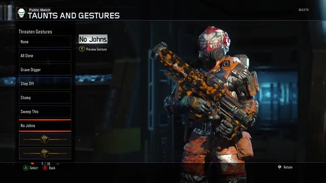 "TIL there is a ""No Johns"" reference gesture in Call of Duty: Black Ops 3."