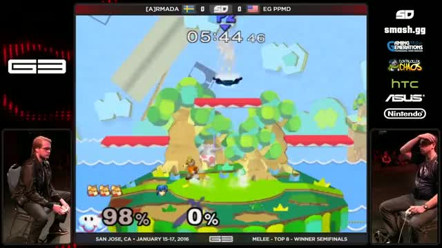 Armada stands under the respawn platform