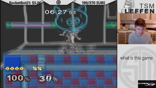 Combo on Leffen in Silly Melee
