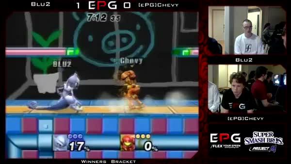 Blu2's 0-death against EPG|Chevy's samus