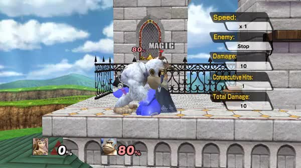 Zelda's D-Tilt causes some stun animations that are . . . interesting.