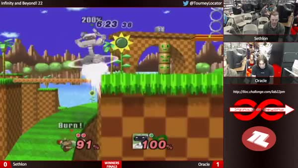 Mess up your edgeguard and you're sent to a fiery doom