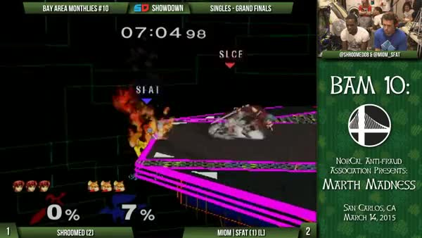 [Marth] Shroomed displays the many different options for edgeguarding Fox.