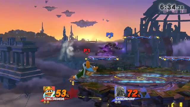 "King Dedede: ""It's over, Ganondorf, I have the high ground!"" (gfy)"