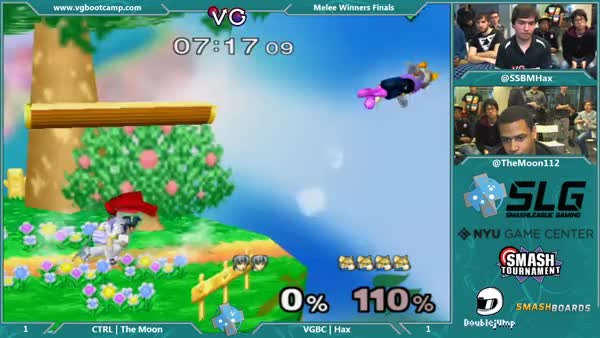 The amazing Hax converts a recovery into a 0-Death Edgeguard on The Moon