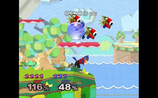 Played on netplay vs. Anther (6th on Michigan PR)'s falco and that one weird rare hitstun effect thing happened…