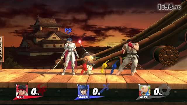 Ryu's dthrown breaks other people's shields