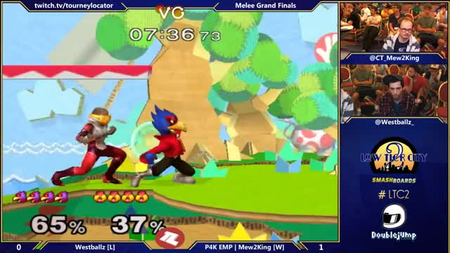 M2K giving Westballz fist bump for his shine combo