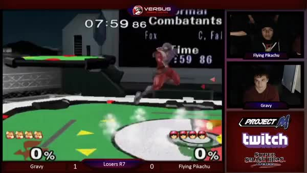 [Falcon] Gravy destroys Flying Pikachu's first stock.