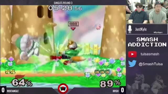 Sopo mid combo taunt on Fox