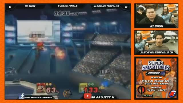 Jason Waterfalls uses a power shield to get his combo started.