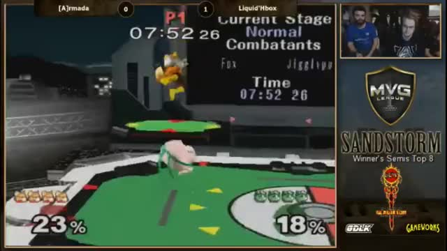 Hungrybox's insane up-air Rest punish on Armada