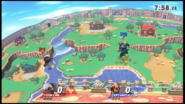 Toon Link zero to death on Captain Falcon