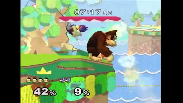 Anti-Spacies Z-Powershield/Lightshield Edgeguard Tech on Yoshi's Story