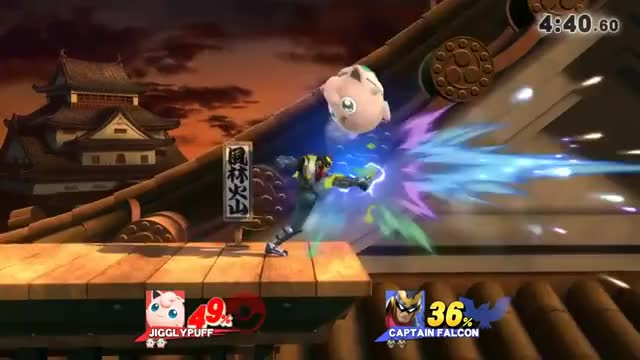 Jigglypuff String on Captain Falcon