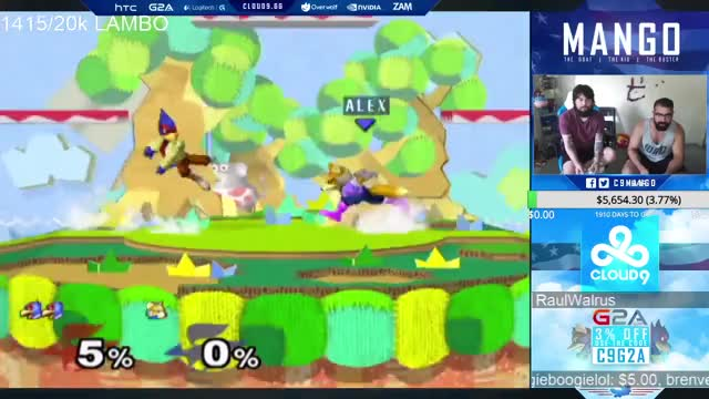[Falco] Mang0 0-deaths off a shine