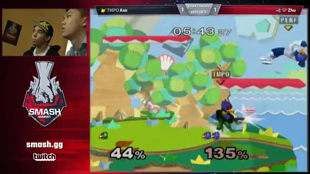 Zhu with the triple bair vs Axe