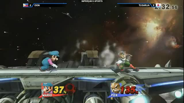 That Mario grab after Fox' side-b recover! (x-post /r/SmashBrosPH)