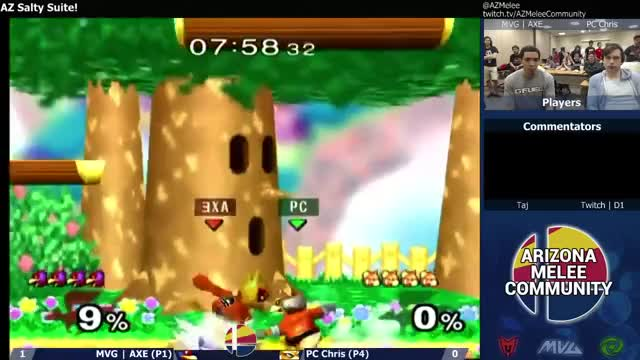 PC Chris gets swagged on by Axe's Falco
