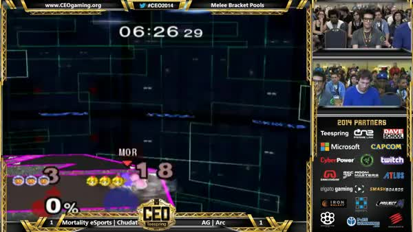 "Arc's historic double shieldbreak and ""punish"" (X-post to r/smashbros)"
