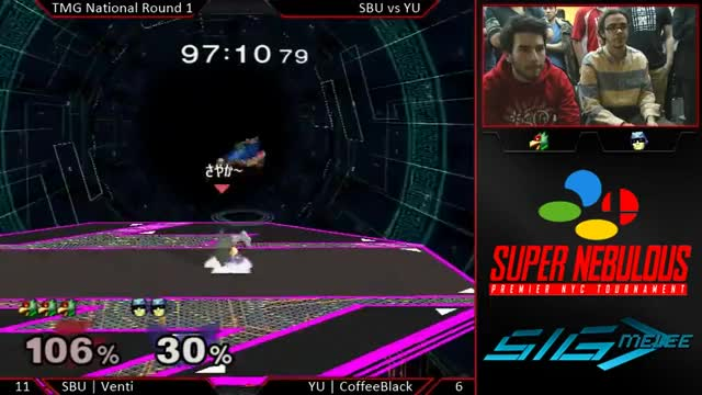 Falco combo into reverse f-smash @ Super Nebulous