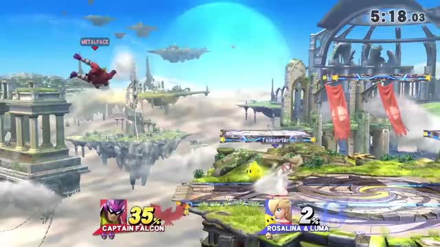 ZeRo brings AceStar from one ledge to another