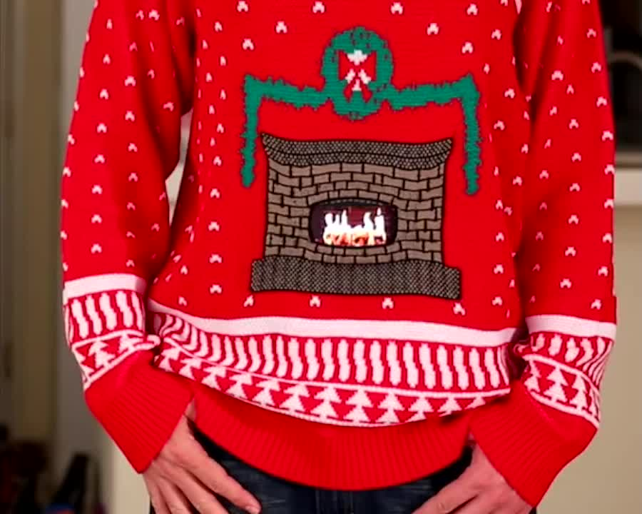 This Christmas Sweater that uses your phone as a fireplace