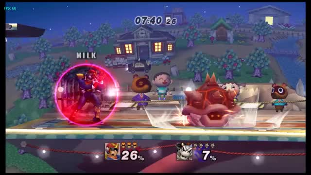 Falcon combo on Bowser
