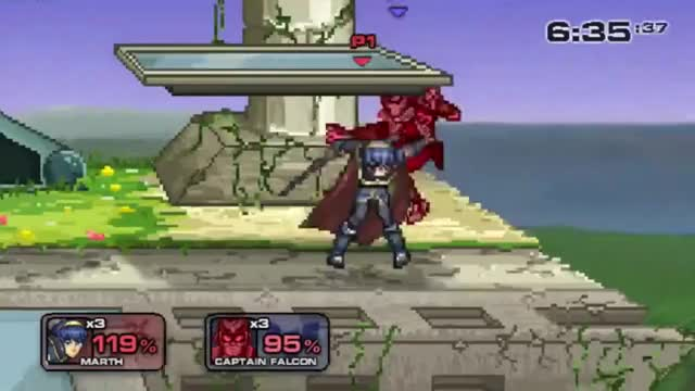 [SSF2]Taunt Cancel into Falcon Punch