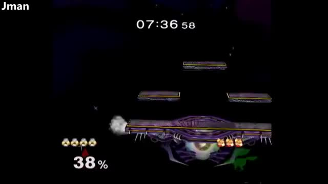 M2K starts a combo as Sheik and finishes the edgeguard as Zelda