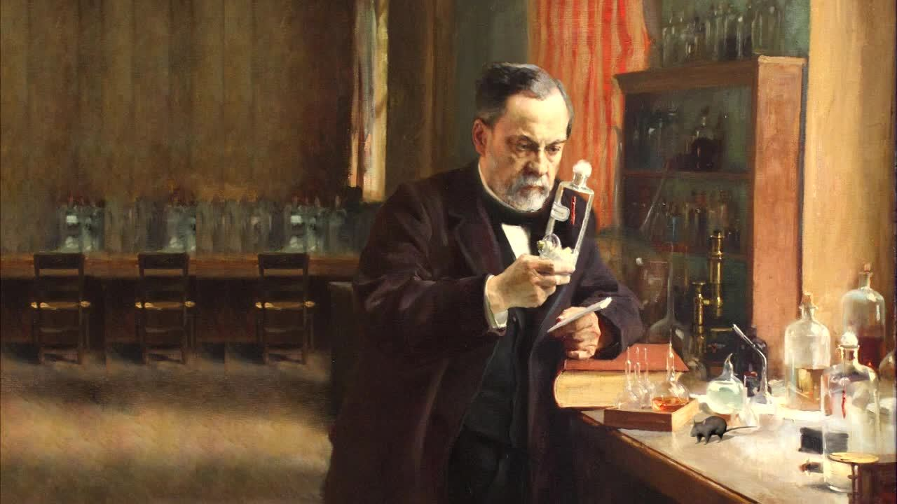 animation made from pictures of louis pasteur