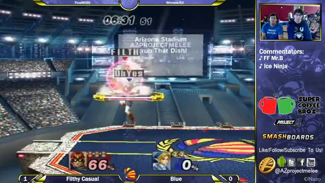 Slick Falcon tech chasing by Filthy Casual at Final Boss