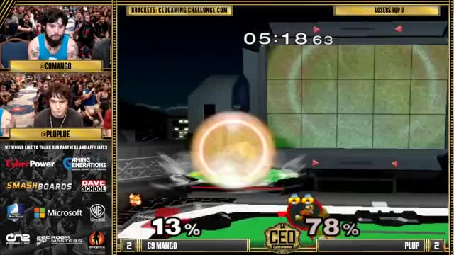 mang0 puts a twist on U-throw Uair