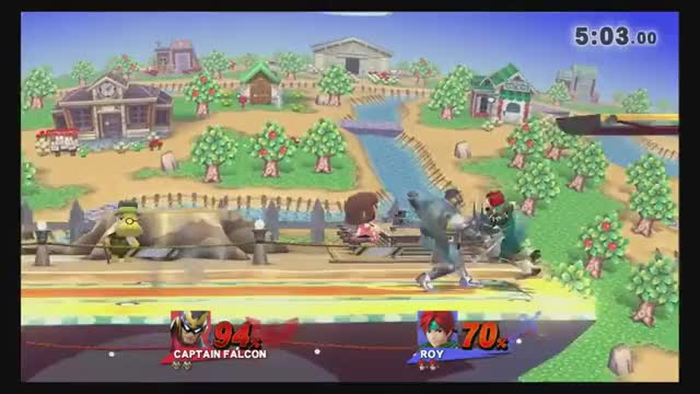 Best Captain Falcon combo I've seen. From my buddy in a tournament in Kansas.